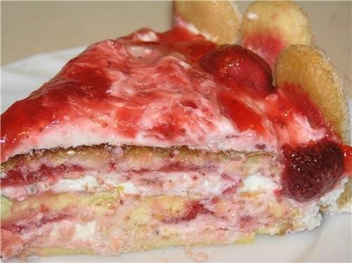 Сейчас сезон клубники, поэтому тоже покажу несколько клубничных тортов Обсыпной торт с клубничным к... - 4