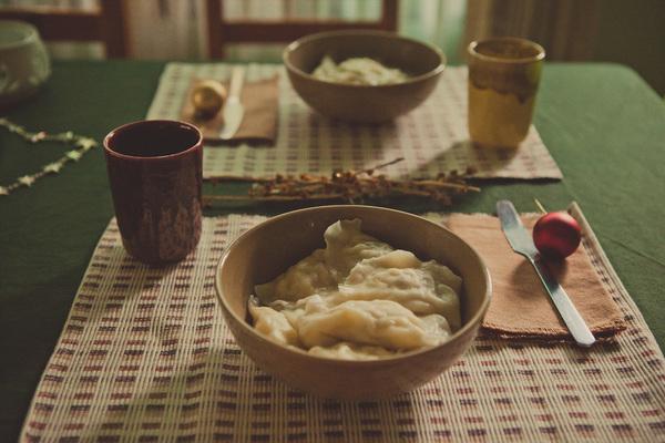 Домашние вареники с картошкой и грибами