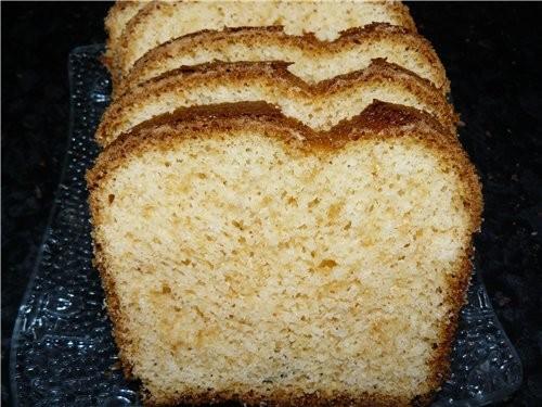 """Кекс """"Снежинка"""" Сделала отдельно крем сметана + сахар и каждый себе на кусок кекса намазывал, вкусн..."""