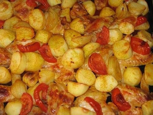 Вика, я тут у тебя Тунисскую кухню пристрою : Курица, запеченная в духовом шкафу Салат из огурцов и... - 2