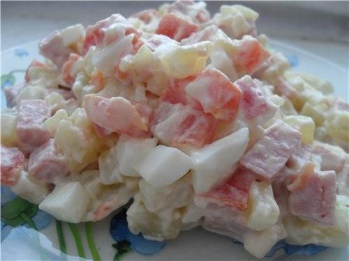 """У меня сегодня Пирожки с картофельным пюре с квашенной капустой И салат """"Оливье"""", правда без зелено... - 3"""