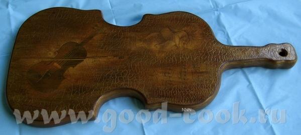 Доска-скрипка Деревянная доска для сыра, высота 39 см, ширина 19 см, толщина 2 см