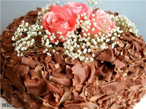 """А это любимый торт (после """"Наполеона"""") моей семьи (рецепт мой ),который делала на день рождения сын..."""