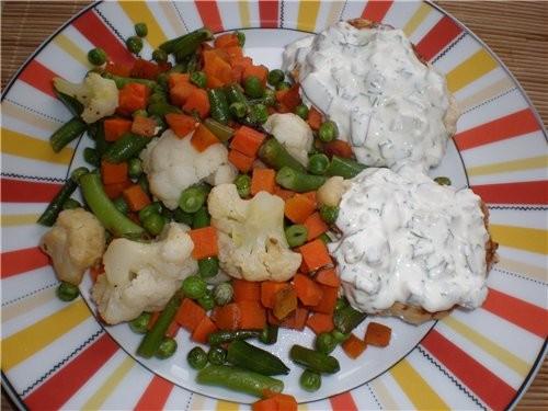 Ужин для мужа:-) Отбивная из индейки Ужин для меня:-) Ленивые голубцы под соусом Прокручиваем филе... - 2