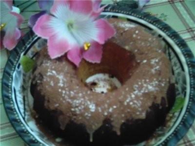 вот такой кексик испекла только что Шоколадный кекс на сгущёнке с виноградом для тесата 2 ст муки 4...