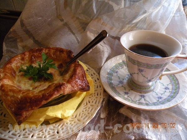 Девочки а я хочу предложить такой завтрак- ,,АЛЯ-ЯИШНИЦА ВО ФРАНЦУЗКОМ ТЕСТЕ,, делается очень прост...