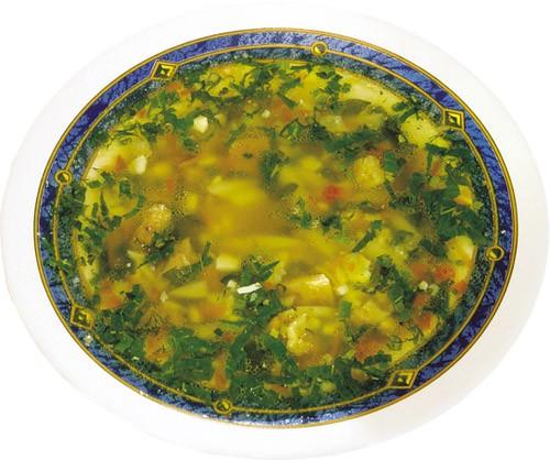 Суп из фасоли с сушеным мясом