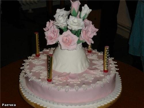 Ну вот, приехали фотографии с моего дня рождения и теперь я могу выставить свой именной тортик торт...