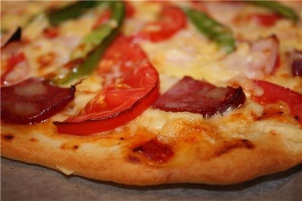 Еще одну спасибку за Массу для пиццы, начинку сделала из того, что было дома))))) Но тесто, это что... - 2