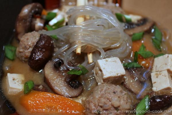 Pork and Mushroom Noodle Soup