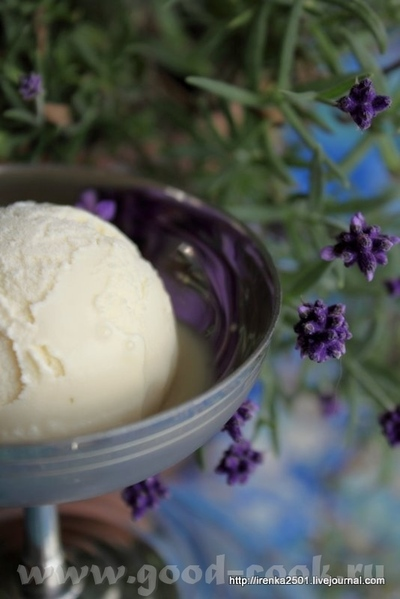 Glace а la lavande - Мороженое с лавандой Очень необычное мороженое