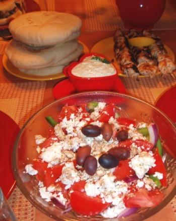 А у нас сегодня вечер Греческой кухни