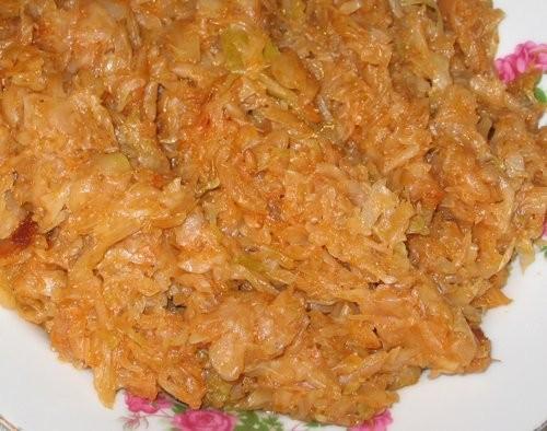 Весенний салат Покупной хуммус Тушенная капуста Рецепты - 7