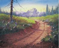 Уроки по рисованию рисуем акрилом Рисуем утренний прибой рисуем пейзаж Урок акрилом - 3