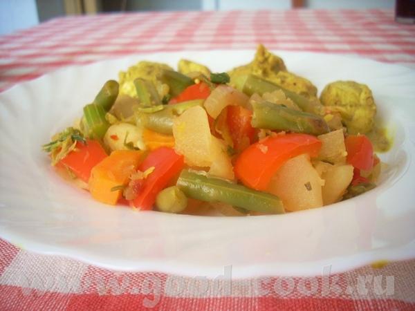 Жареные овощи с чили Патиссоны, фаршированные тунцом с соусом песто