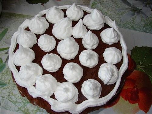 Вот первый торт моей дочери (ей 9 лет) - сама пекла