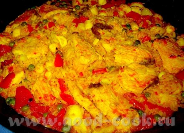 Paella de mariscos y pescado sepia (каракатица) -300 г (я использовала только часть каракатицы - 8