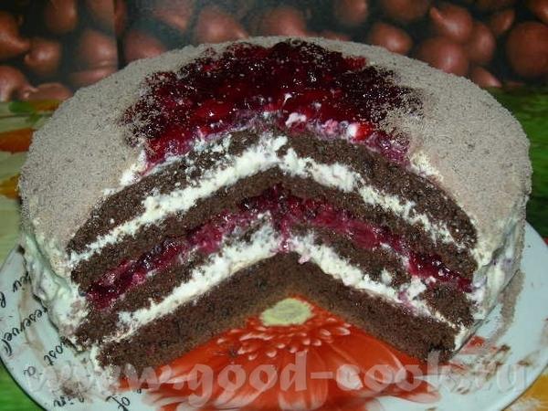 Торт с заварным кремом и вишней Для коржа: -2 стакана муки -2 ст