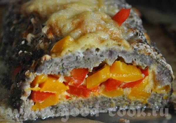 Рулет мясной с болгарским перцем