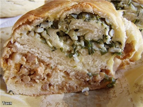 Корзиночки с тунцом и овощами Пирог-кольцо с мясом и яйцом - 3