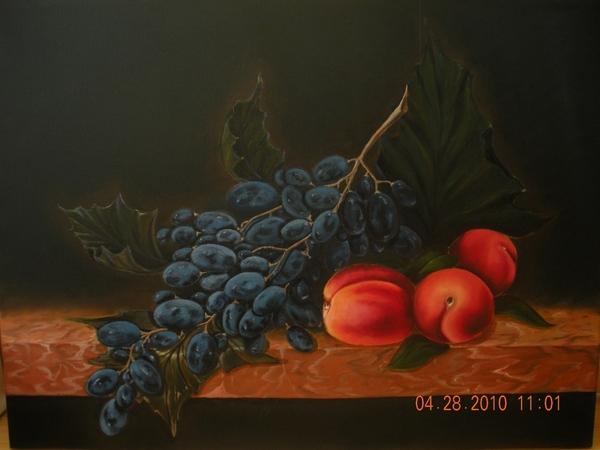 Девушки, мой многострадальный виноград, типа по-Антонову, но уже не Кларет - 3