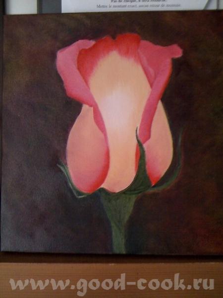 Показываю мои розы, рисую триптих - 5