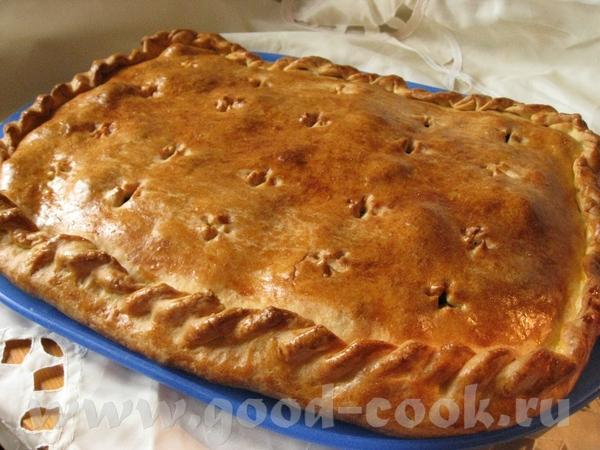 Пирог из слоеного дрожжевого теста с мясом и капустой За основу взят Пирог из слоеного дрожжевого т...