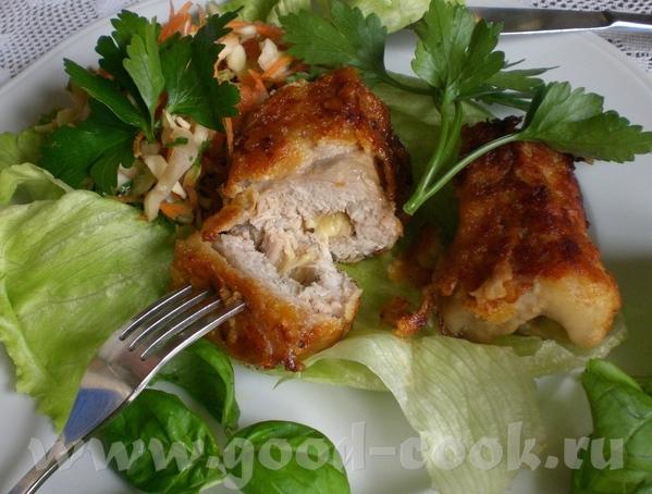 Gefьllte Schweinerцllchen Свиные рулетики с (сырной) начинкой - 2