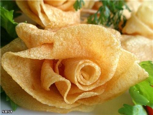 Cегодня сделала на ужин вот такие картофельные розы - замечательно нежные и хрустящие - 3