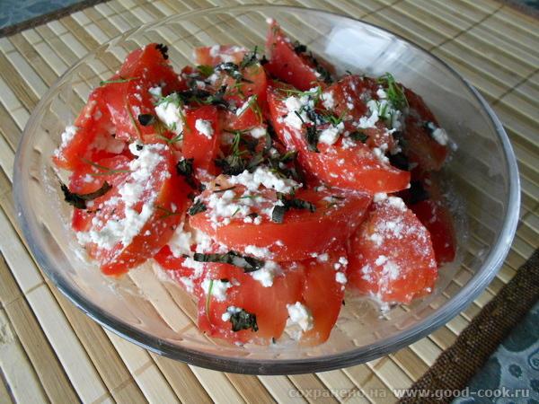 томаты с творогом