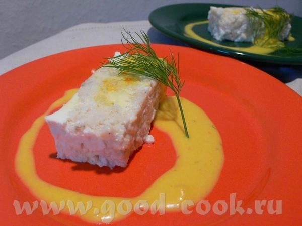 Рыбный террин с шафрановым соусом На 8 порций в качестве закуски: 350г филе белой рыбы (у меня - Ro... - 2