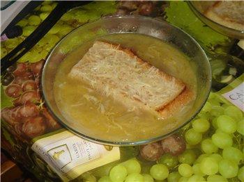 Только что приготовила Луковый суп в МВ