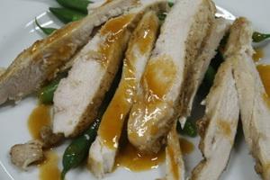 салат из курицы и зеленой фасоли