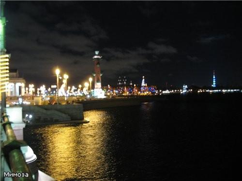 Вид с Дворцового моста на стрелку