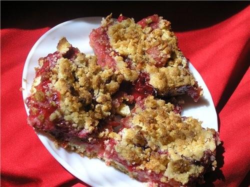 Пирожные с вишнево-яблочной начинкой
