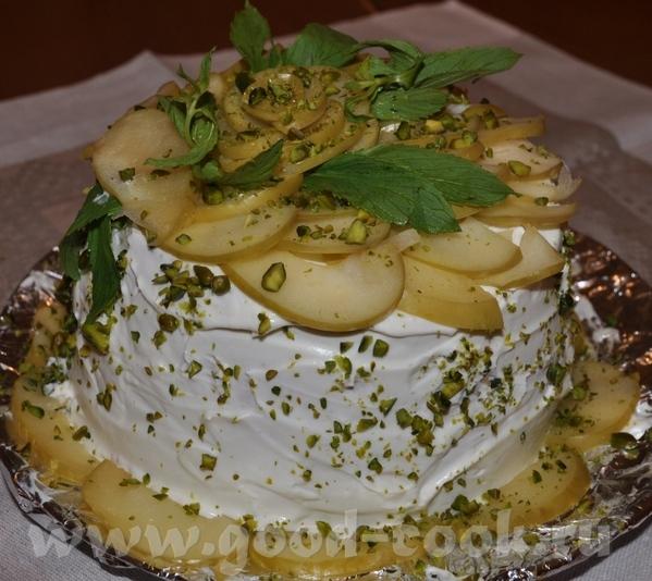 """Торт """"Яблочный каприз"""" Рецепт взят из журнала """"Вкус сезона, осень"""" 2008 год"""