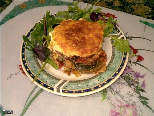 """Запеканка из капустных и кабачковых оладий с мясом Мясной """"кирпичик""""с грибами,сыром и еще - 6"""