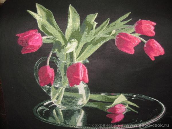 Семь нот красоты или красные тюльпаны на черном фоне