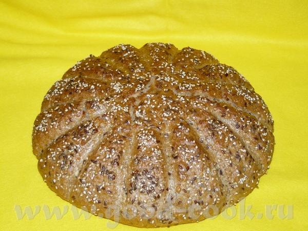 """Хлеб """"Солнечный"""" - Saatensonne Закваска, 15-18 часов стоять: 100 г ржаной муки(тип 1150) 110 г воды..."""