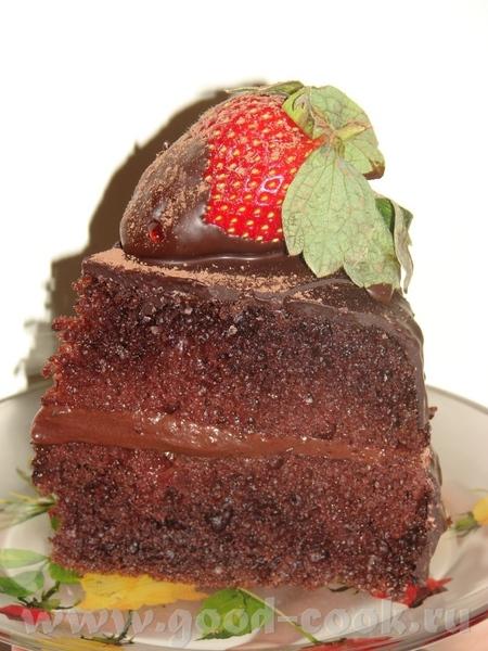Шоколадно-клубничный торт Угощайтесь к утреннему кофе Основа увеличенное Чудо 300 гр масла слив 5 м... - 3