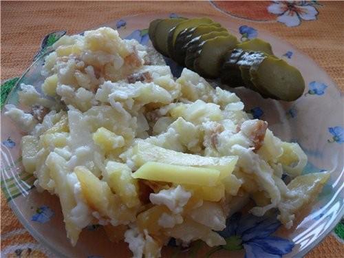 Захотелось нам с утрица жареной картошки, вот и навернули вдвоем целую сковородку Жареный картофель...