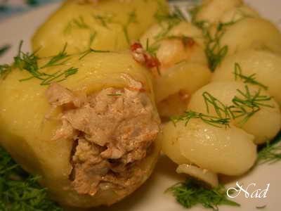 ФАРШИРОВАННЫЙ КАРТОФЕЛЬ СОСТАВ: В зависимотси от объема посуды, в которой будет готовиться картофел... - 4