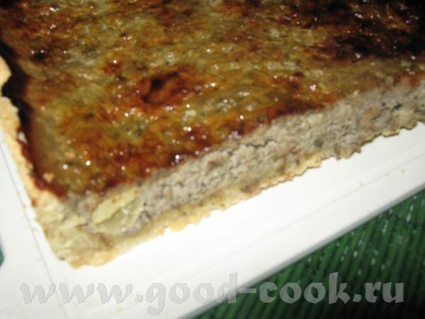Открытый пирог с печенью и киш-мишем Основу для пирога можно взять любую, которую любите