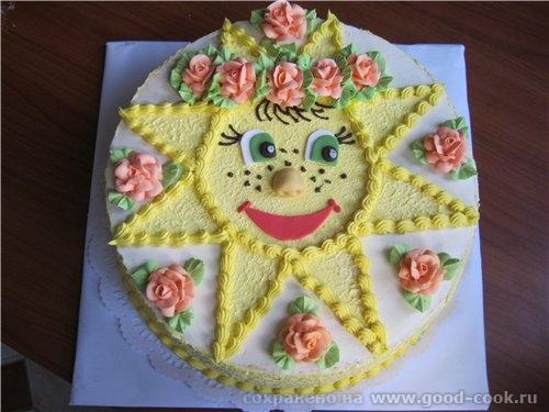Как украсить торт для девочки на день рождения дома