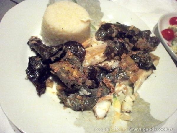 Морской волк со сморчками под винно-грибным соусом Рецепт от моего мужа