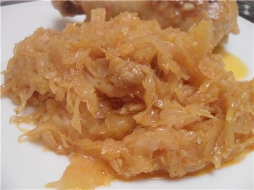 Тушеная капуста с тыквой капуста 1 вилок (маленький) 1/2 шт