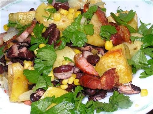 Картофельные лодочки с салатом из селедки и овощей Запеченная картошка, фаршированная сыром Картошк... - 4