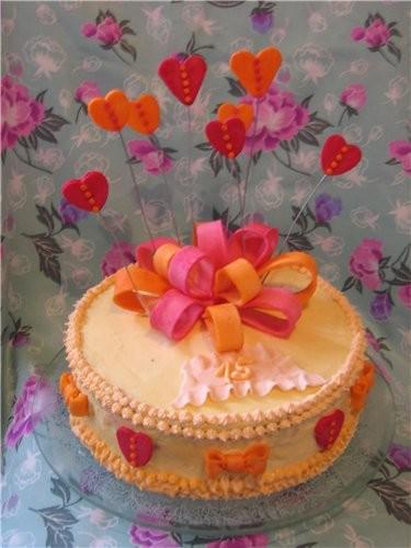 Ну раз юбилейная тема, выставлю два тортика - 3