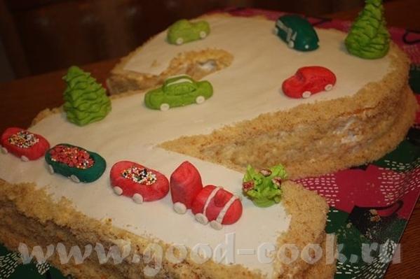Девочки, вот закончила в ночи торт ребенку на завтрашний праздник - 4