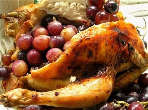Куриные окорочка с сыром в слоеном тесте Курица с виноградом - 3